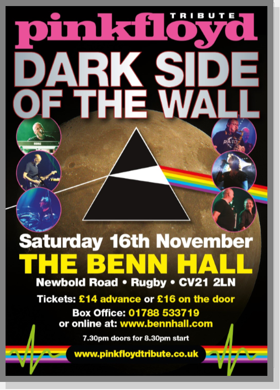 Live, Dark Side of the Wall, Pink Floyd, Benn, Rugby, Show, Entertainment, things to do