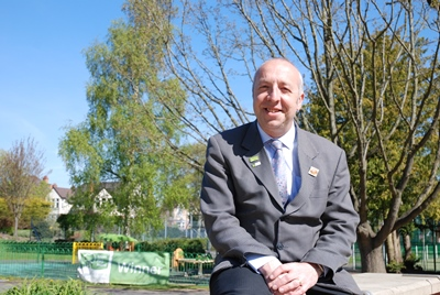 Chris Worman MBE, Rugby Borough Council parks and grounds manager