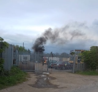 Wolvey tyre fire