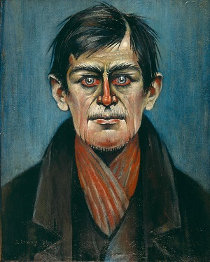 LS Lowry - Head of a Man