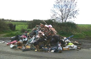 Little Lawford Lane fly-tipping