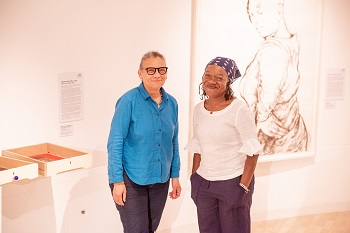 Lubaina Himid and Claudette Johnson