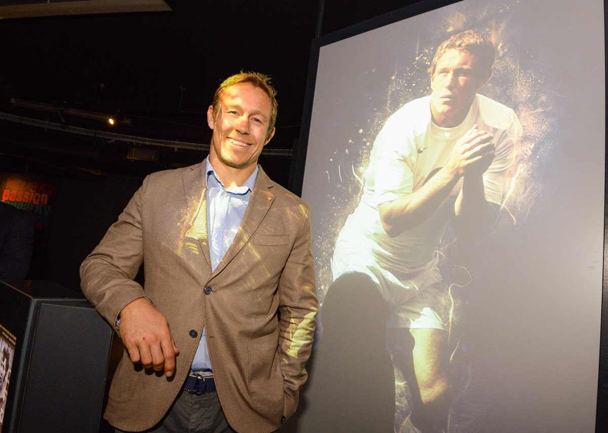 Jonny Wilkinson at the launch of the World Rugby Hall of Fame